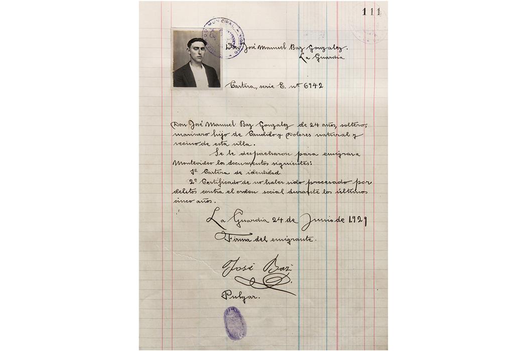 Registro judicial de emigrantes de los años 20